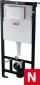 система инсталляции для подвесного унитаза с рамой Sadromodul AM101/1120 + кнопка хром ALCAPLAST M-71